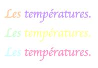 Les températures comme contraception