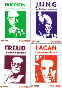 Découvrez Freud, Lacan, Jung et Erickson dans un pack de 4 ouvrages reprenant les concepts clés de ces théoriciens de génie.